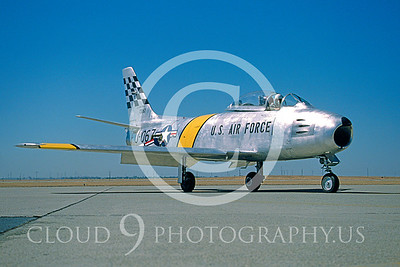 WB-F-86 00005 North American F-86 Sabre Beale AFB Oct 1996 by Peter J Mancus