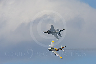 HF 00114 North American F-86 Sabre and Lockheed Martin F-16 Fighting Falcon by Peter J Mancus