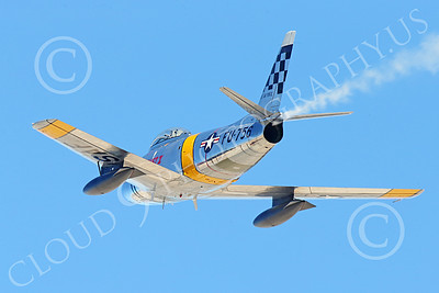 WB-F-86 00024 A North American Sabre USAF Korean War era jet fighters zooms up, warbird picture by Peter J Mancus