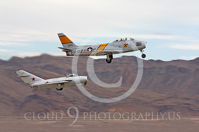 WB-F-86 00002 Mikoyan-Gurevich MiG-15 and North American F-86 Sabre by Peter J Mancus