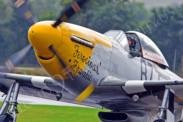 WB - North American P-51D Mustang 00011 North American P-51D Mustang Ferocious Frankie by Tony Fairey