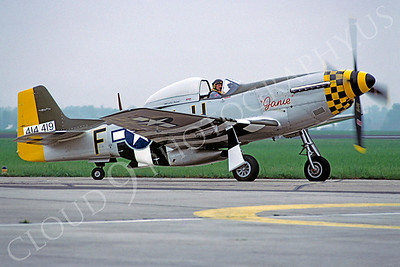 WB - 00035 North American P-51 Mustang Janie by Stephen W D Wolf