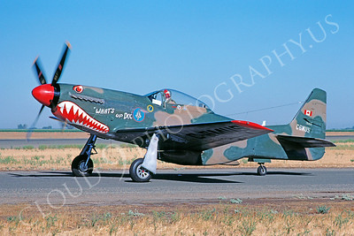SM 00045 North American P-51D Mustang WARBIRD Madera August 1984 by William T Larkins