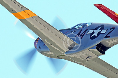 WB - North American P-51 Mustang 00089 An in-flight Tuskegee Airmen North American P-51 Mustang World War II era fighter, by Peter J Mancus