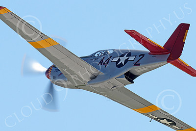 WB - North American P-51 Mustang 00063 Close up of the nose of an in-flight Tuskegee Airmen North American P-51 Mustang World War II era fighter warbird airplane picture, by Peter J Mancus