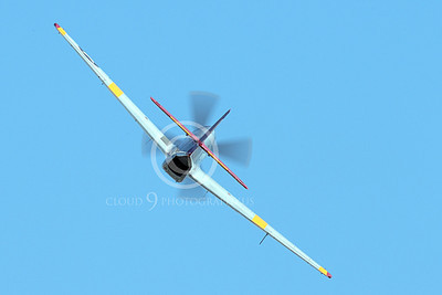WB - North American P-51 Mustang 00116 Rear view of an in-flight Tuskegee Airmen North American P-51 Mustang World War II era fighter, by Peter J Mancus