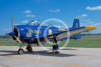 WB - North American T-28 Trojan 00009 Blue Angels warbird by Stephen W D Wolf