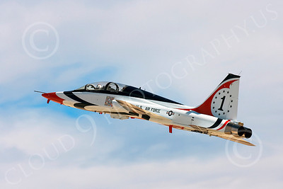 WB - T-38 00002 Northrop T-38 Talon in USAF Thunderbird markings, by Peter J Mancus