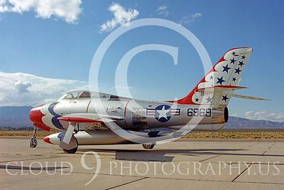 WB - Republic F-84F Thunderstreak 00005 Republic F-84F Thunderstreak USAF Thunderbird markings warbird by Peter J Mancus