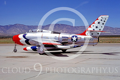 WB - Republic F-84F Thunderstreak 00001 Republic F-84F Thunderstreak USAF Thunderbird markings warbird by Peter B Lewis