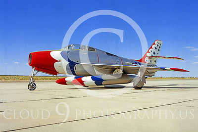 WB - Republic F-84F Thunderstreak 00003 Republic F-84F Thunderstreak USAF Thunderbird markings warbird by Peter J Mancus