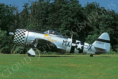 WB - 00005 Republic P-47 Thunderbolt US Army Air Force No Guts No Glory by Stephen W D Wolf