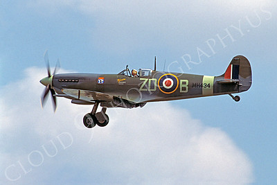 WB - 00172 Vickers-Supermarine Spitfire British RAF by Stephen W D Wolf