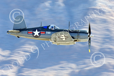 WB-Chance Vought F4U Corsair 00036 A flying Chance Vought F4U Corsair US WWII era fighter banks right, warbird picture by Peter J Mancus
