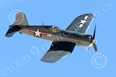 WB-Chance Vought F4U Corsair 00042 A flying Chance Vought F4U Corsair US WWII era fighter banks right, warbird picture by Peter J Mancus
