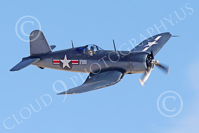 WB-Chance Vought F4U Corsair 00010 A flying Chance Vought F4U Corsair US WWII era fighter banks right, warbird picture by Peter J Mancus