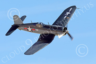 WB-Chance Vought F4U Corsair 00014 A flying Chance Vought F4U Corsair US WWII era fighter banks right, warbird picture by Peter J Mancus