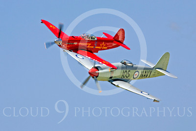 WB - YAK-9 00022 Yakovlev YAK-9 with a Hawker Sea Fury by Peter J Mancus