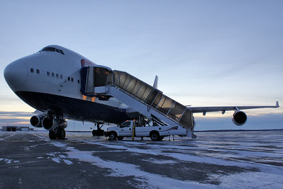 Frozen British Airways 747-436
