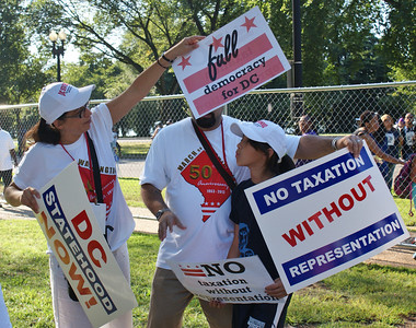 "Supporters of statehood for the District Of Columbia rally during the 50th Anniversy March On Washington."" (8/24/13)"