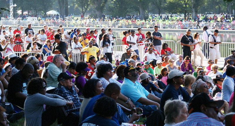 Tens of thousands of people gathered in the nations capitol to  commemorate the 50th anniversary of the March On Washington. (8/24/13)