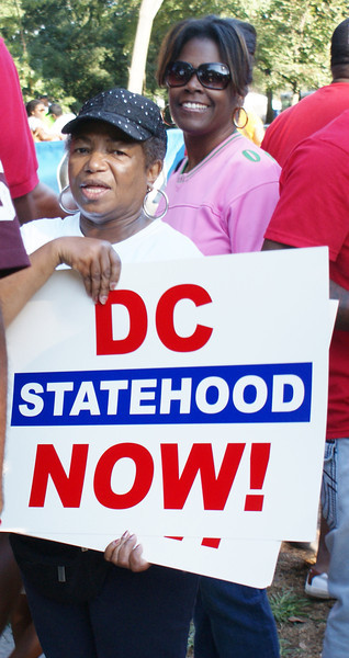 """Supporters of statehood for the District Of Columbia rally during the 50th Anniversy March On Washington."""" (8/24/13)"""