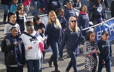 Wyatt Acadamy students march in the MLK Day parade in Denver.