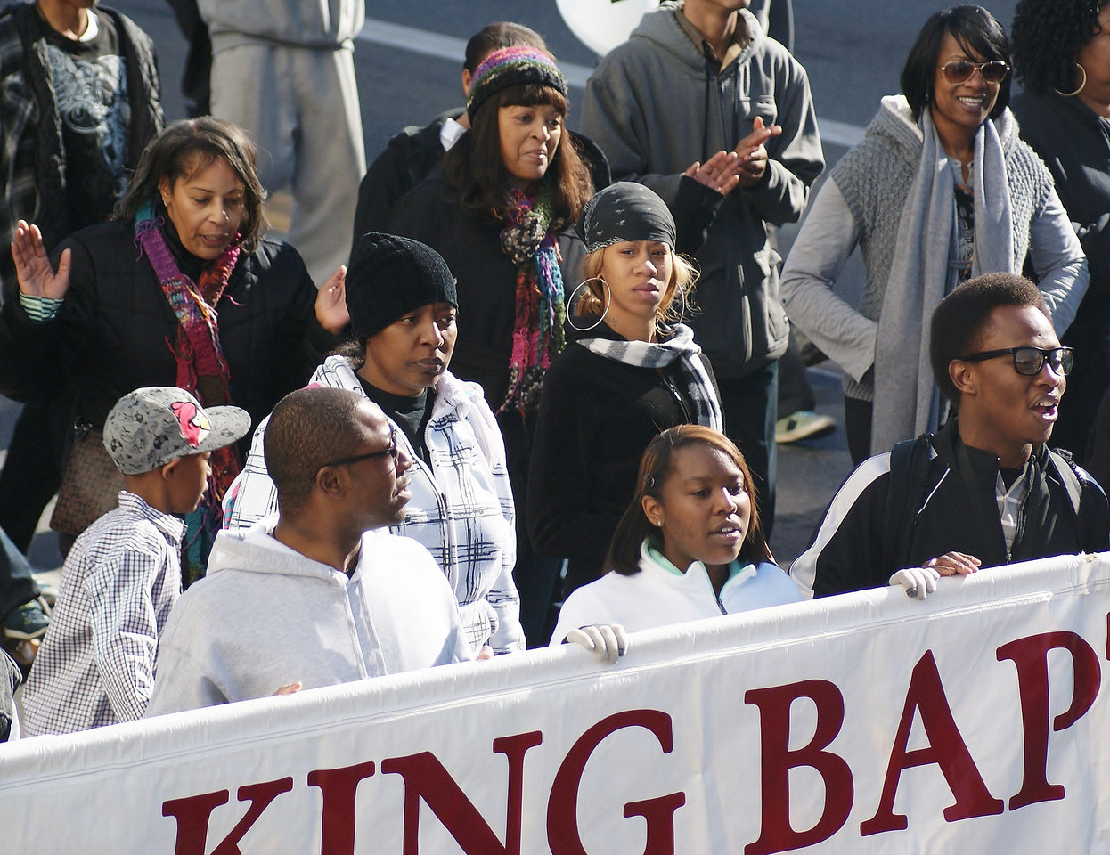 Baptist church members march in Denver on MLK Day.