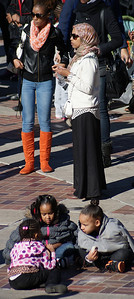 African-American children playing at MLK rally in Denver.
