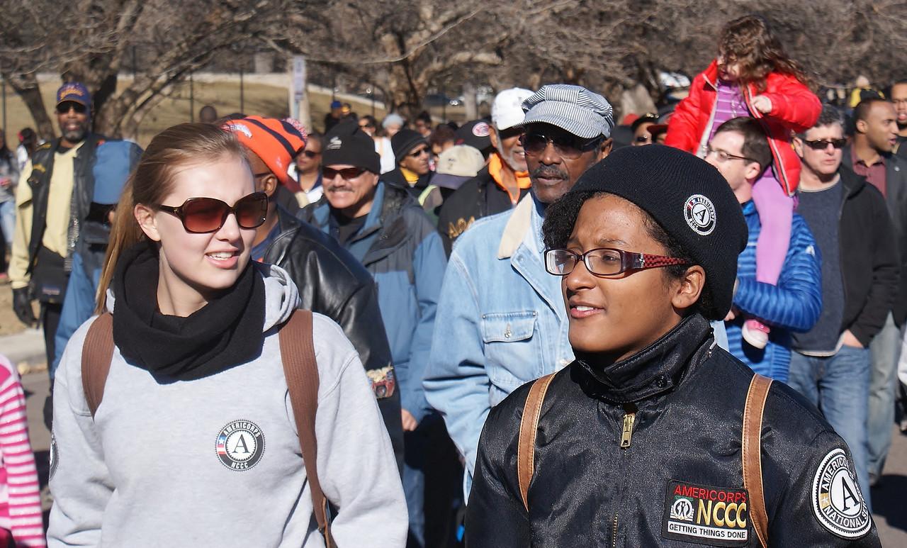 MLK Day marchers in Denver.