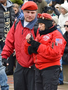 Two members of the Guardian Angels at MLK Day rally in Denver.