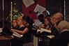 The choir sings the Te Deum
