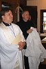 Jeff and Dirk get ready in the Sacristy