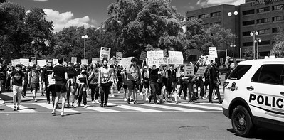 Washington, DC, May 31, 2020 - Protesters take to the streets in response to the killing of George Floyd by Minneapolis police.