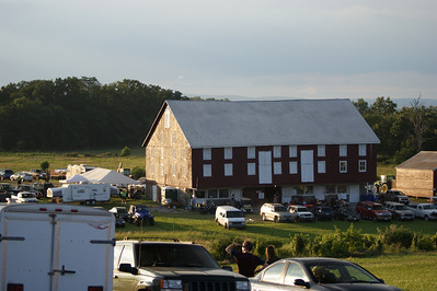 Registration barn for sutlers and re-enactors.