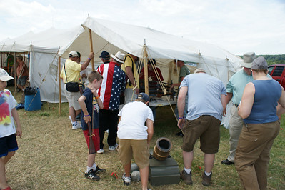 The N-SSA Booth at the re-enactment.