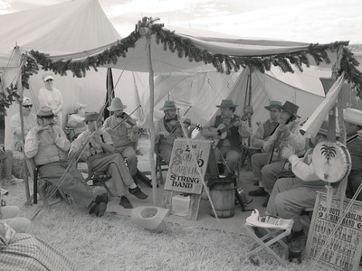 2nd South Carolina String Band, in infrared.