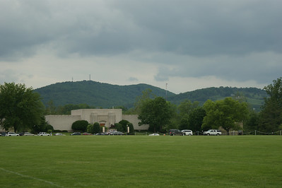 Storm cell rolling in over the parade grounds at VMI.  May 2009. Photo by Allissa Weber.