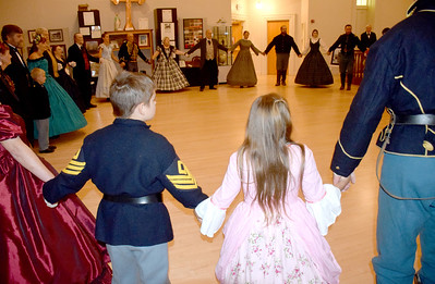 Dancers of all ages from Southern and Central Illinois gathered at the Old Effingham County Courthouse in downtown Effingham on Saturday night during the 1872 Courthouse Celebration and Civil War Era Grand Ball. Charles Mills photo