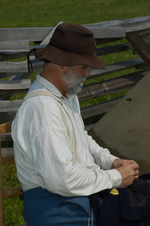 Stock image of American Civil War re-enactment at Camp Nelson, Kentucky USA