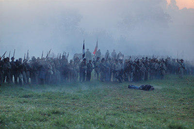 Stock image of the 2006 National Civil War Re-enactment of the 1862 Battle of Perryville, Kentucky USA