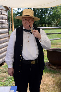 Bill Myers as the 3rd Assisdtant Engineer of the 61st NY Regiment seen during the Civil War Encampment at the Havens Homestead Museum, in Brick, NJ on 08/04/2019. (STEVE WEXLER/THE OCEAN STAR).