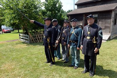 61st NY Regiment drilling during the Civil War Encampment at the Havens Homestead Property in Brick, NJ on 08/04/2019. (STEVE WEXLER/THE OCEAN STAR).