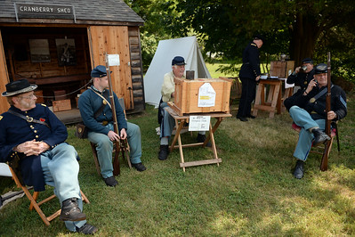 Members of the 61st New York Regiment arer seen at the the Havens Homestead Museum site during their Civil War Encampment, in Brick, Nj on 08/04/2019. (STEVE WEXLER/THE OCEAN STAR).