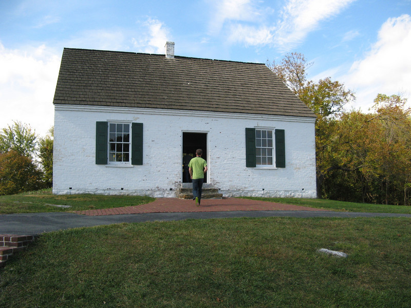 Dunker Church: the focal point of the Union attacks on the morning of Sept 17, 1862
