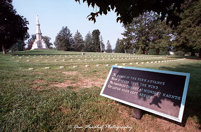 A poignant sign in Soldier's Cemetery