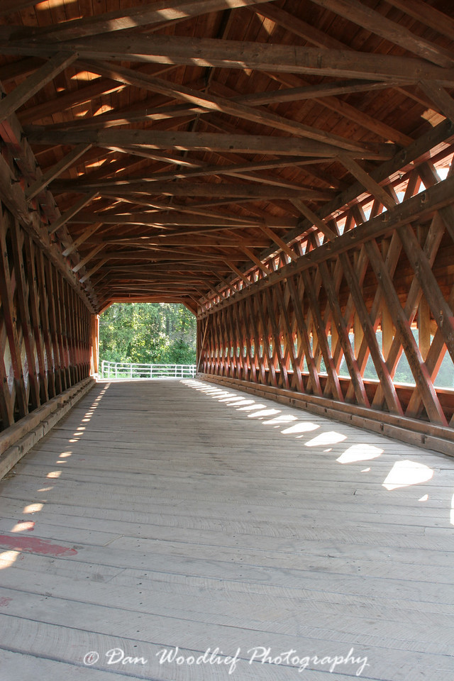 Sachs covered bridge, located behind the Confederate lines