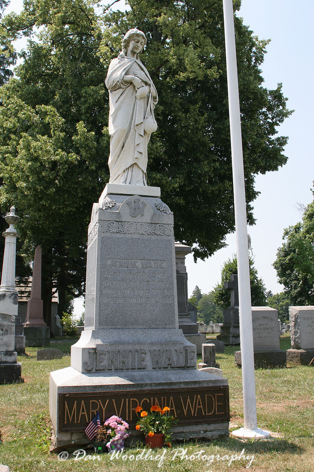 Jenni Wade's grave - Evergreen Cemetery