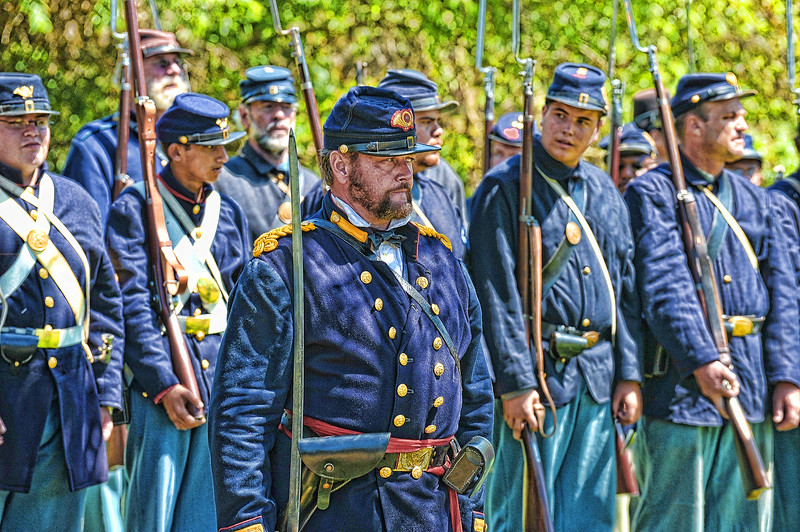 Union soldiers in formation