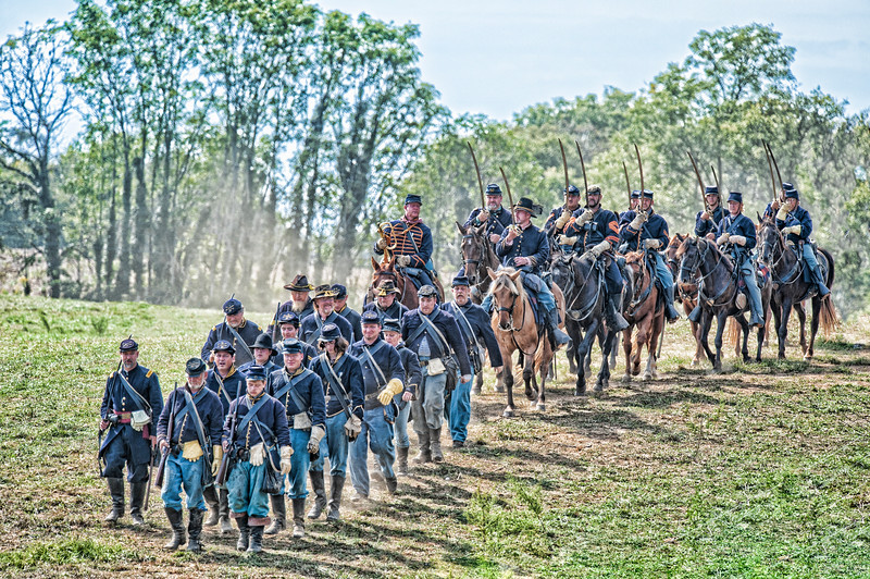 Union Cavalry on the march